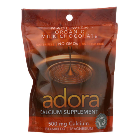 Adora - Chocolate Disk Mlkchc Calc - 1 Each-30 Ct