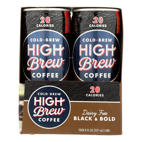 High Brew Coffee - Coffee Rtd Black & Bold Sugar Free - Case Of 6-4-8 Fz