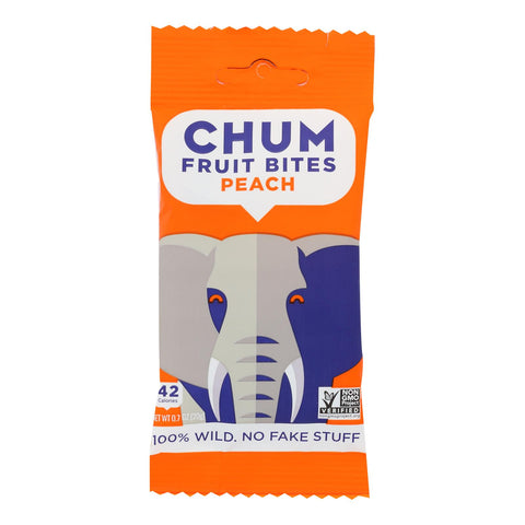 Chum Bites - Fruit Bites Peach - Case Of 12-0.7 Oz