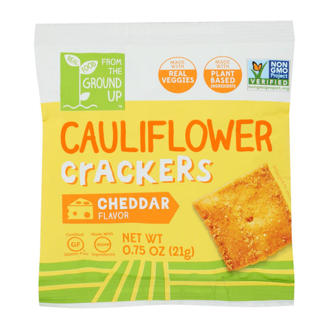 From The Ground Up - Cracker Cheddar Cauliflower - Case Of 24-.75 Oz