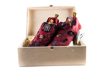 Reebok x End Fury OG Insta Pump Claret Special Wood Box