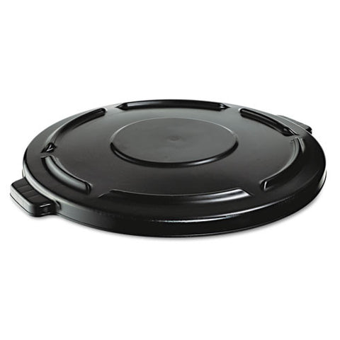 Vented Round Brute Lid (4/Case)-Rubbermaid Commercial Products-T-Ray Specialties
