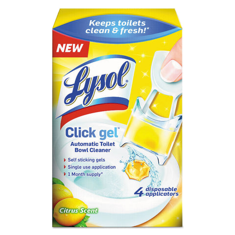 Click Gel Automatic Toilet Bowl Cleaner (5/Case)-Reckitt Benckiser-T-Ray Specialties