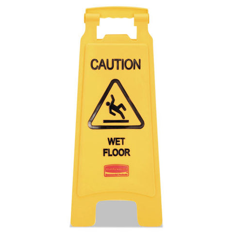 Caution Wet Floor Sign (6/Case)-Rubbermaid Commercial Products-T-Ray Specialties