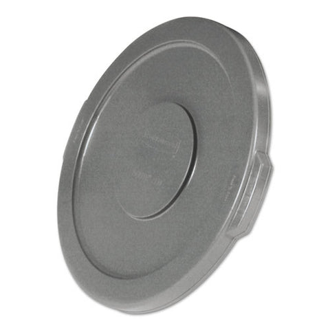 Round Flat Top Lid (6/Case)-Rubbermaid Commercial Products-T-Ray Specialties