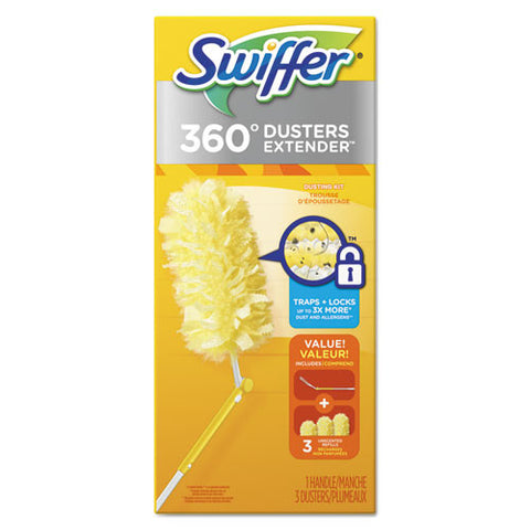360 Dusters, Plastic Handle Extends to 3 ft. (6/Case)-Procter & Gamble-T-Ray Specialties