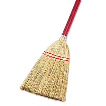 "Lobby/Toy Broom, Corn Fiber Bristles, 39"" Wood Handle (12/Case)-Boardwalk-T-Ray Specialties"