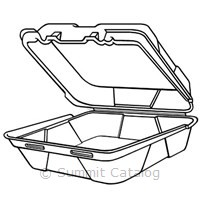 1 Compartment Hinged Foam Container