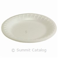 "10.25"" White Plate (540/Case)-Pactiv Corporation-T-Ray Specialties"