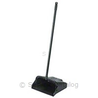 Black Lobby Dustpan Vinyl Coated Steel Handle (1/Case)-Continental Commercial Products-T-Ray Specialties