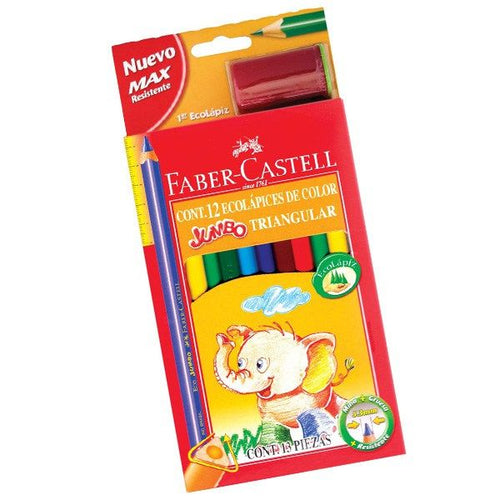 Colores Faber Castell X 12 JUMBO