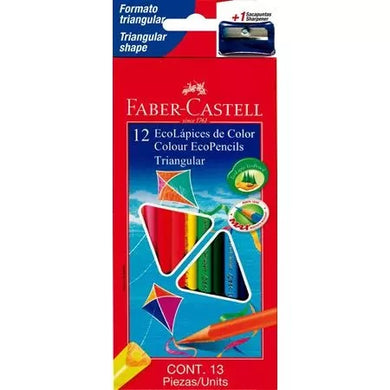 Colores Faber castell x 12 triangulares