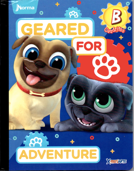 Cuaderno Cuadriculado Pre-School Estampado puppy dog pals geared for adventure Tipo B