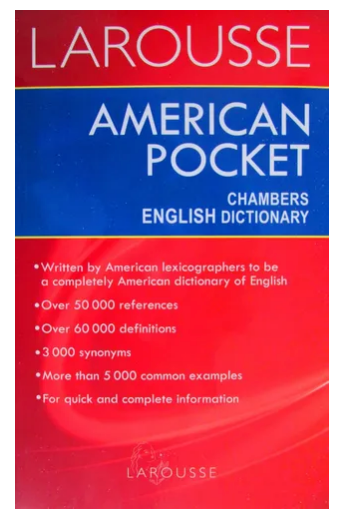 Diccionario Inglés American Pocket Chambers English Dictionary