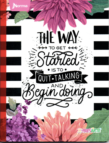 Cuaderno rayado de 50 hojas Norma the way to get started niña