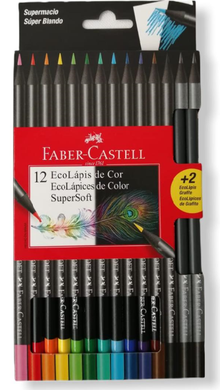 Colores Faber Castell Super soft x12 + 2