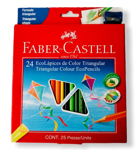 Colores Faber Castell triangular x 24 4mm