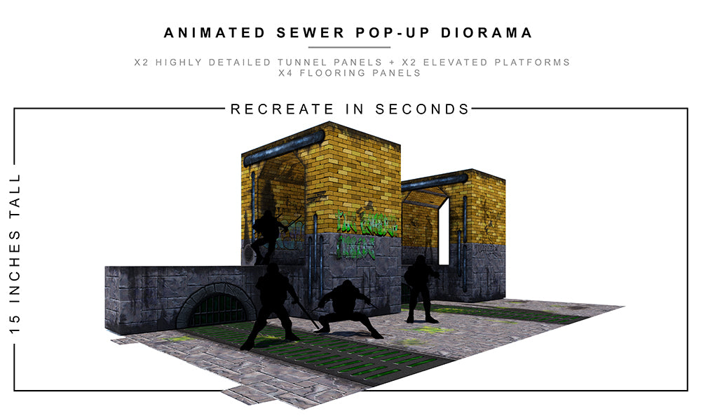 Animated Sewer Pop-Up Diorama