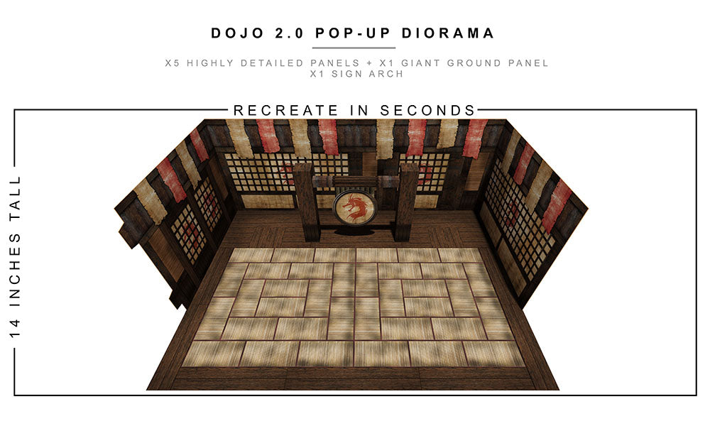 Dojo 2.0 Pop-Up Diorama