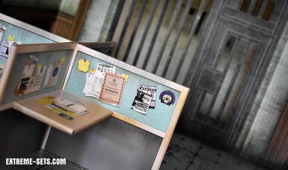 Police Station Pop-Up Diorama
