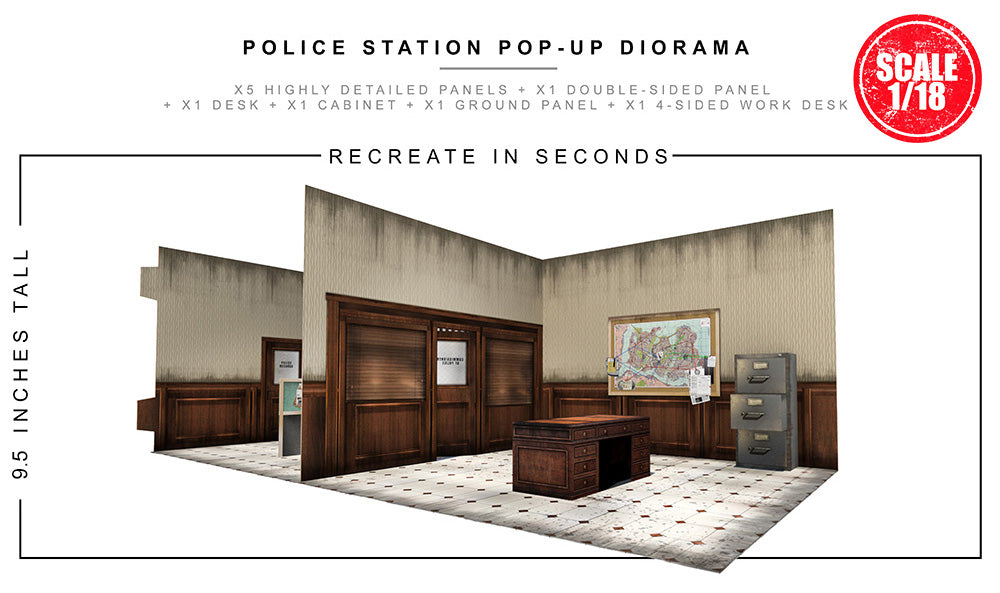 Police Station Pop-Up Diorama 1/18