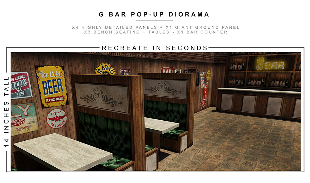 G Bar Pop-Up Diorama