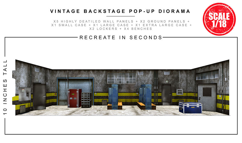 Vintage Backstage Pop-Up Diorama 1/18