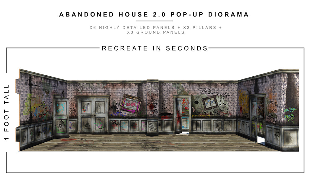 Abandoned House 2.0 Pop-Up Diorama