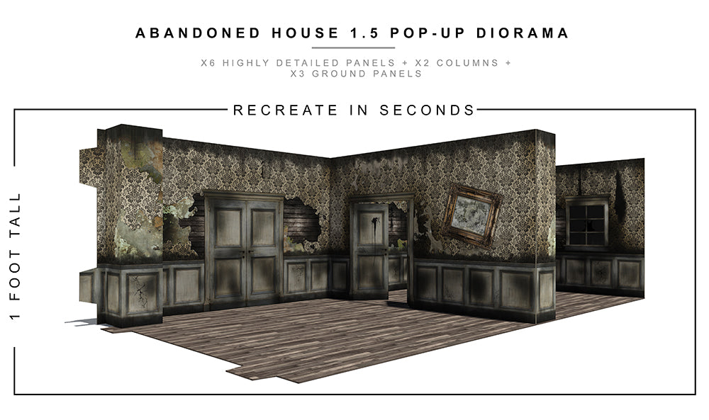 Abandoned House 1.5 Pop-Up Diorama