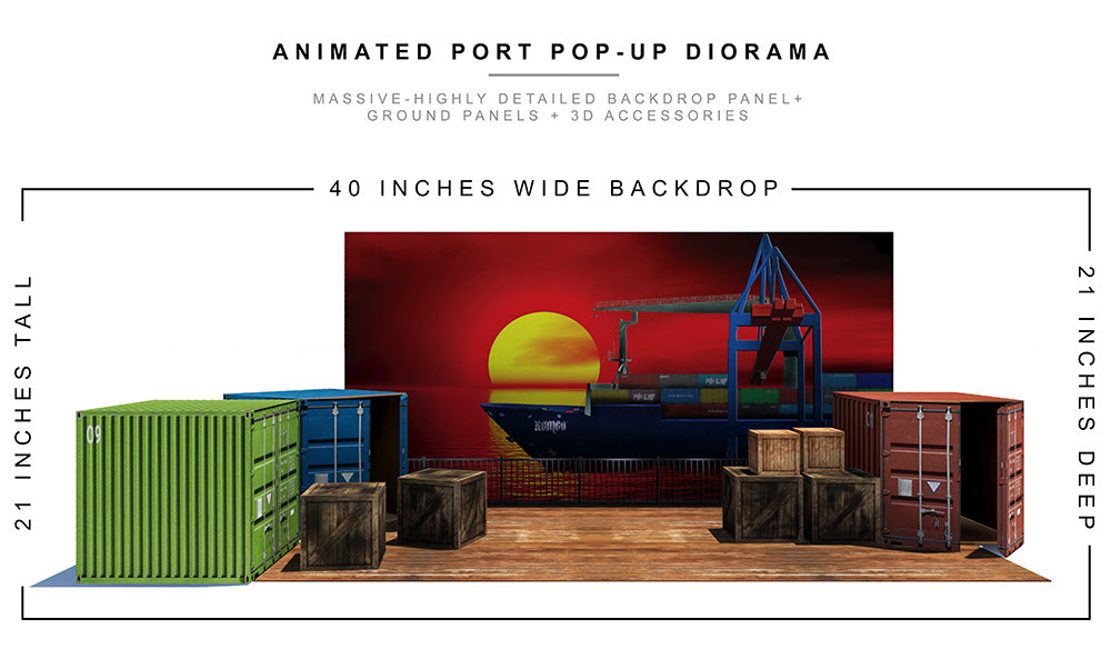 Animated Port Pop-Up Diorama