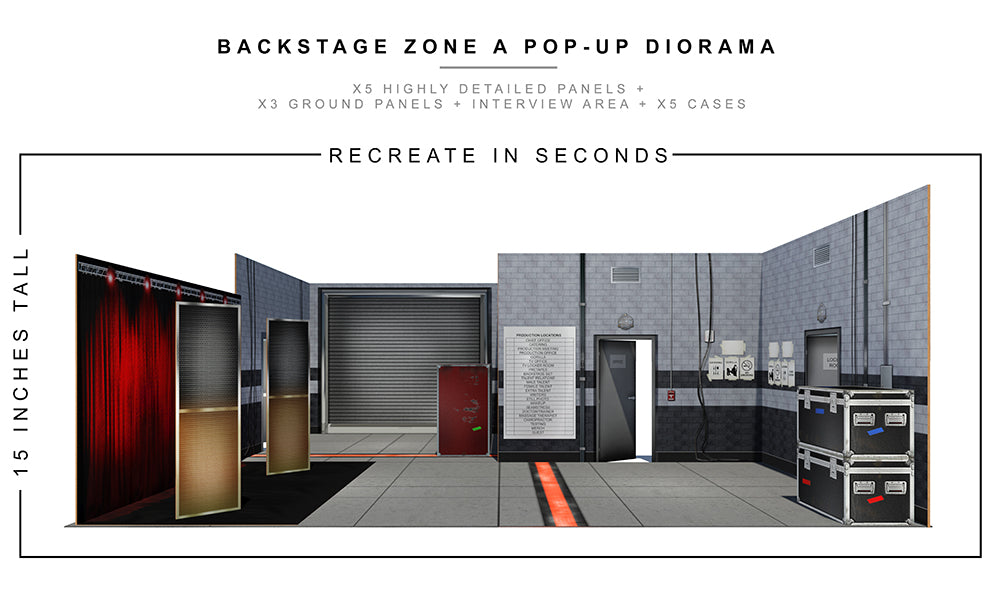 Backstage Zone A Pop-Up Diorama