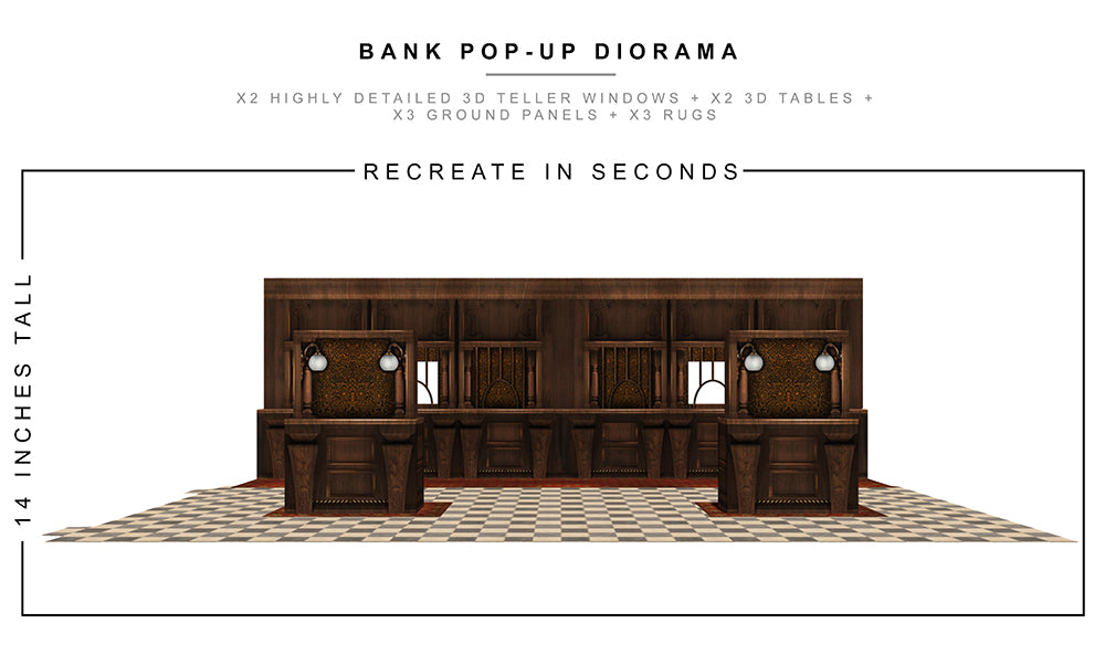 Bank Pop-Up Diorama