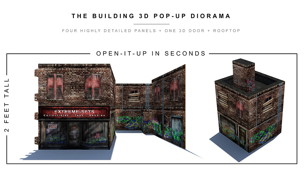 the building 3d pop up diorama extreme sets. Black Bedroom Furniture Sets. Home Design Ideas