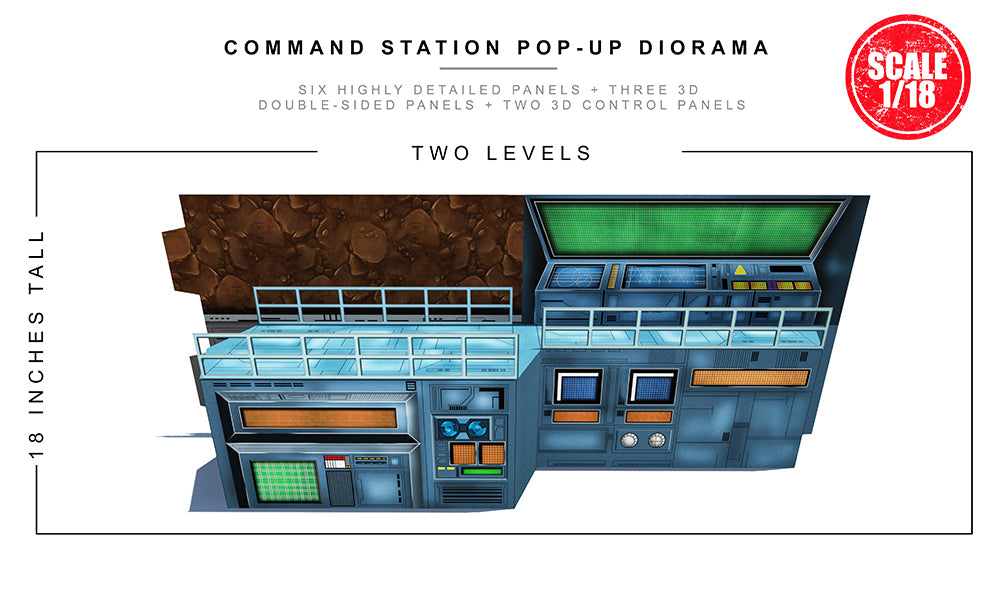 Command Station Pop-Up Diorama 1/18