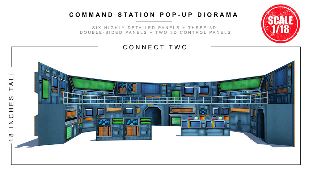 Command Station (1/18) Pop-Up Diorama