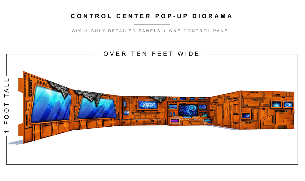 Control Center Pop-Up Diorama
