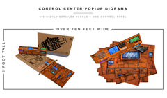 Control Center Pop-Up Diorama 1/12
