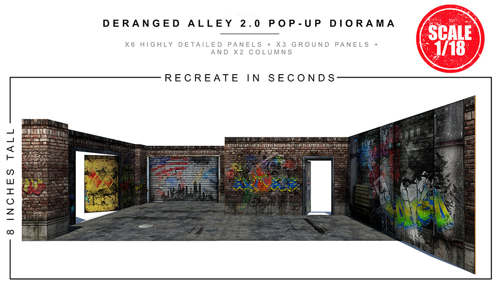 Deranged Alley 2.0 Pop-Up Diorama 1/18