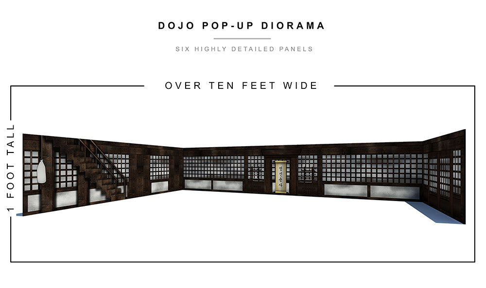 Dojo Pop-Up Diorama