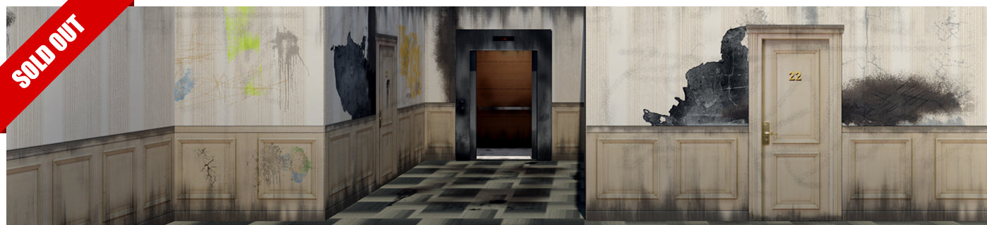 Elevator Hallway Pop-Up Diorama 1/12