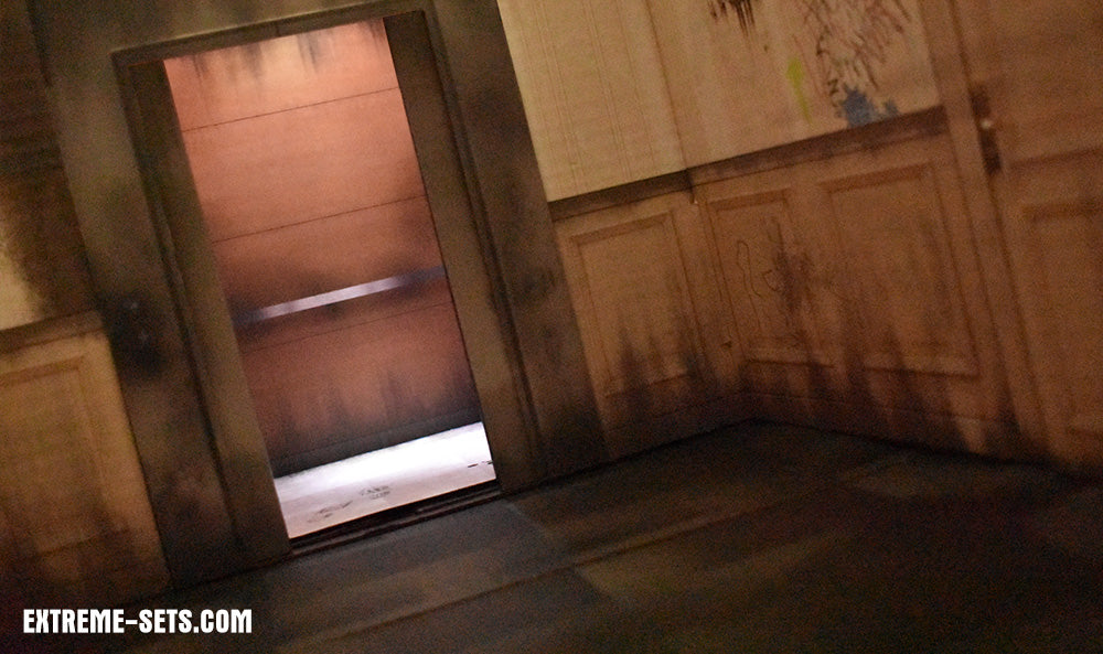 Elevator Hallway Pop-Up Diorama