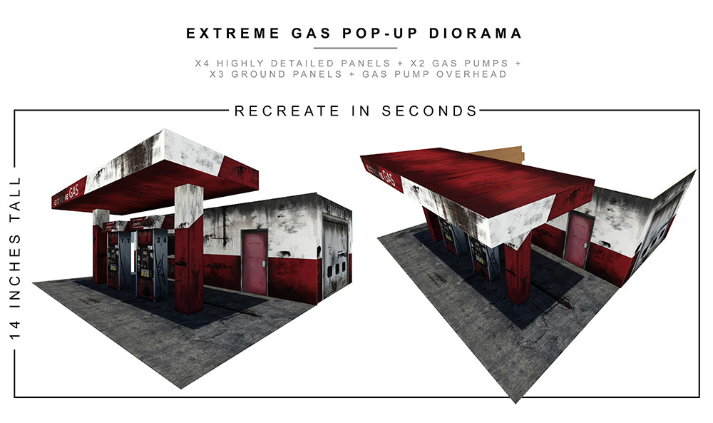 Extreme Gas Station Pop-Up Diorama