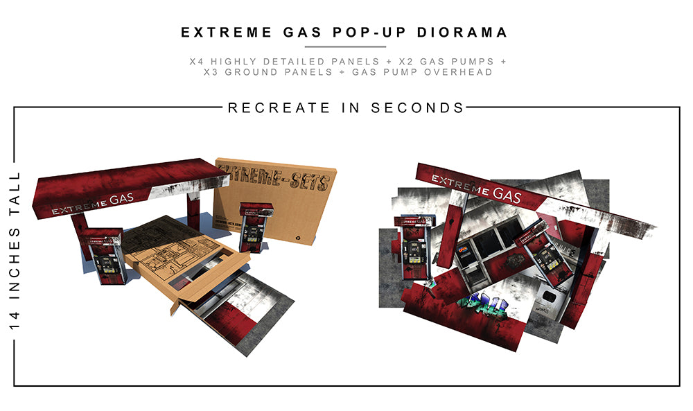 Gas Station Pop-Up Diorama