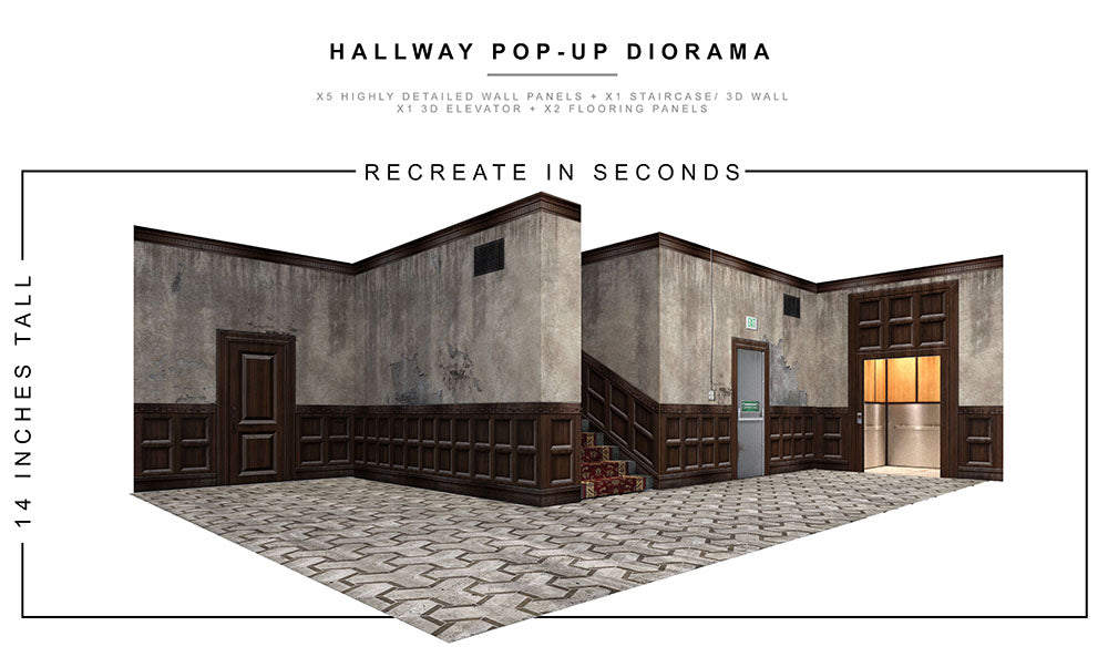 Hallway Pop-Up Diorama
