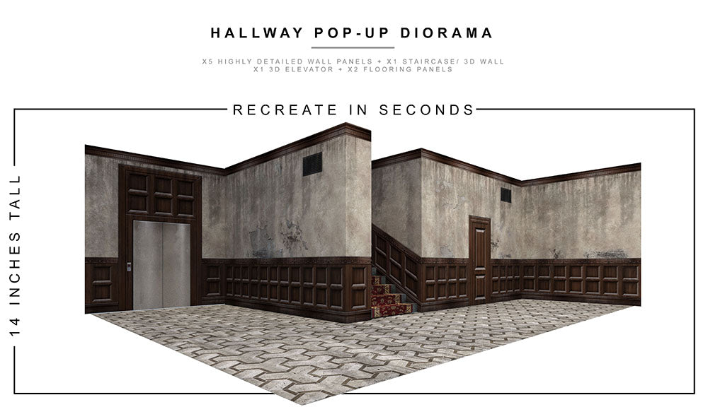 Hallway Pop-Up Diorama 1/12