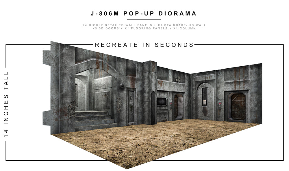 J-806M Pop-Up Diorama 1/12