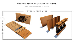 Locker Room Pop-Up Diorama