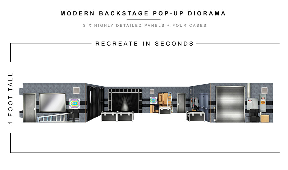 Modern Backstage Pop-Up Diorama