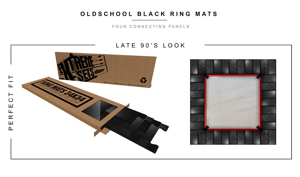 Oldschool Black Ring Mats