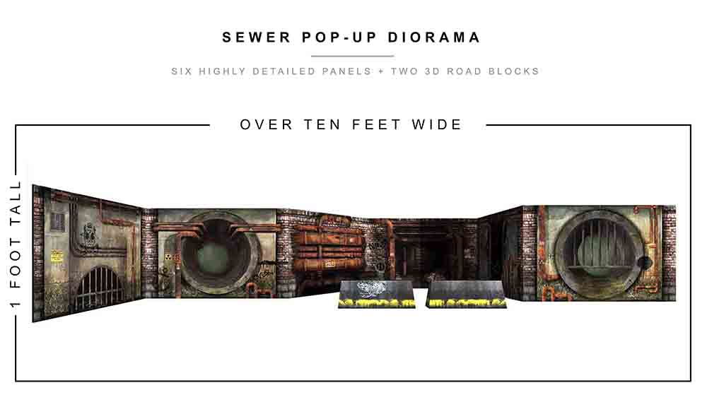Sewer Pop-Up Diorama